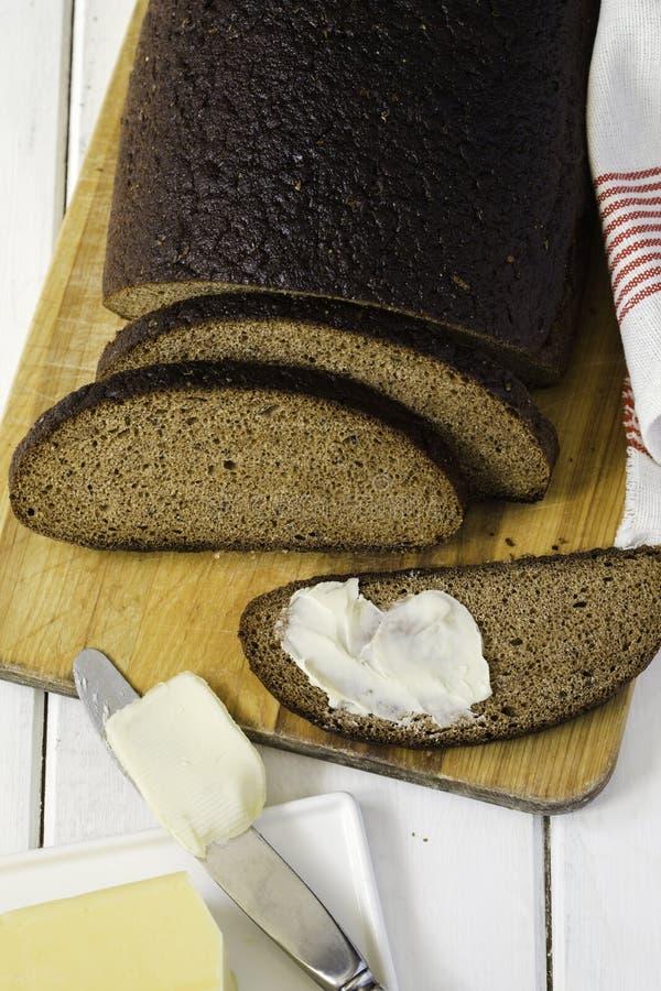 Pan y mantequilla de centeno de Riga fotografía de archivo