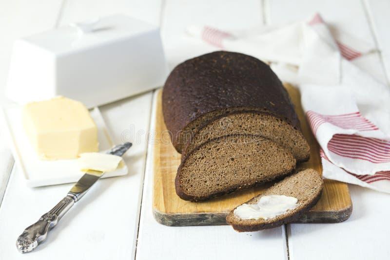 Pan y mantequilla de centeno de Riga foto de archivo libre de regalías