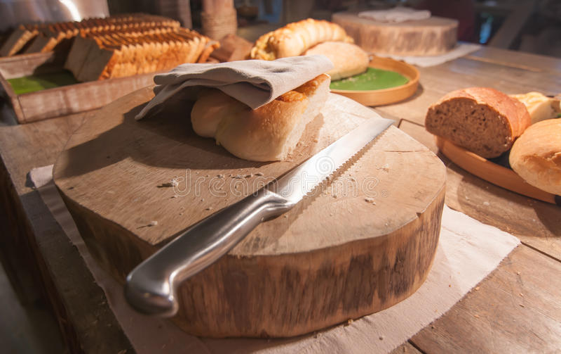 Pan y panaderías (se consuma en parte) foto de archivo libre de regalías