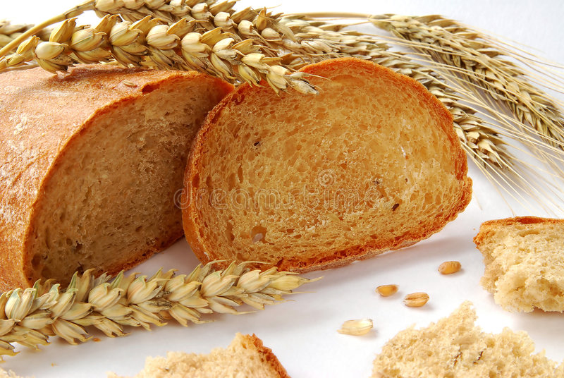 Pan y trigo foto de archivo