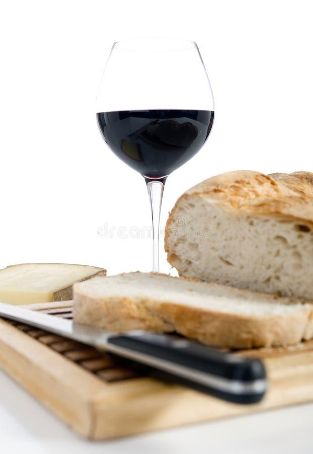 Pan y vino imagenes de archivo