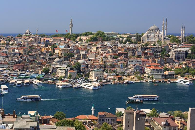 Pan0rama d'Istanbul photo libre de droits