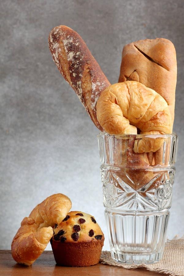 Panadería del baguette del mollete del clavito del cruasán imagen de archivo libre de regalías
