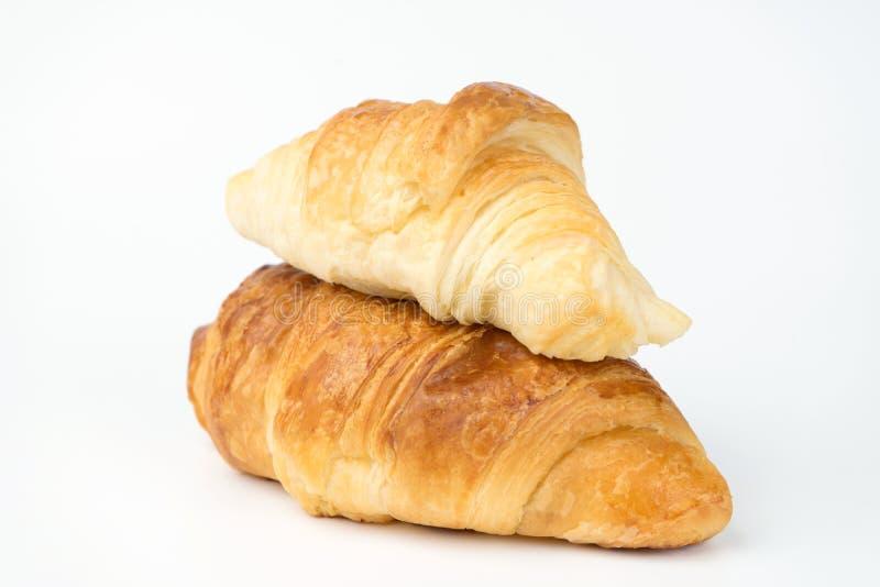 panadería del cruasán en el fondo blanco fotografía de archivo libre de regalías