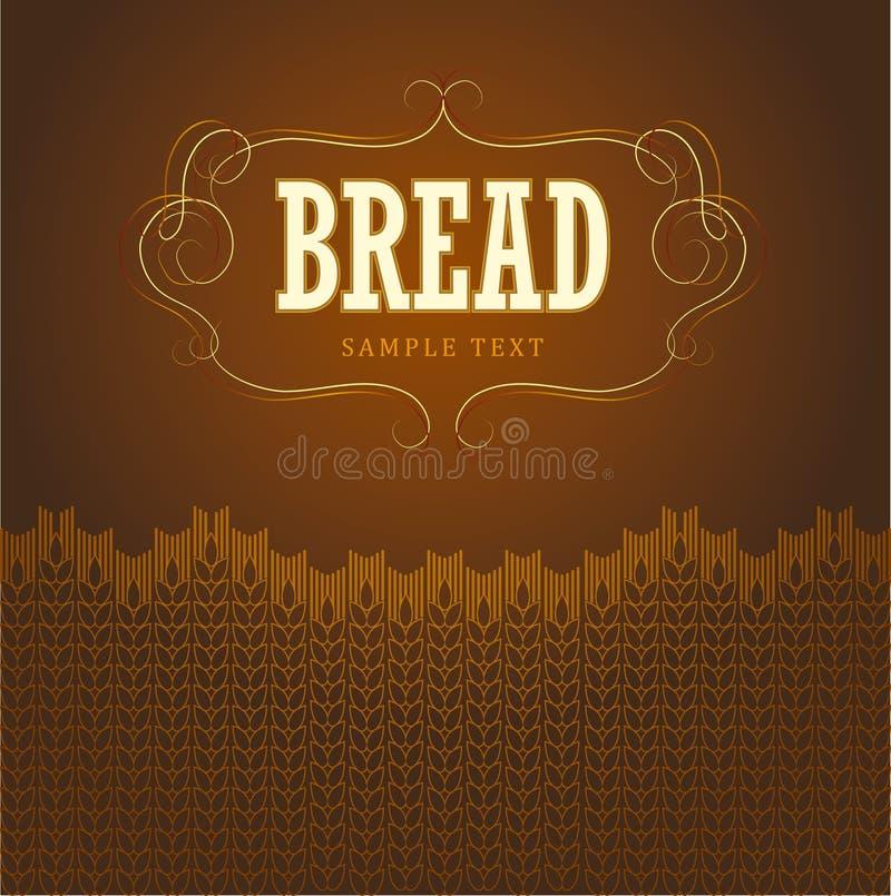 Panadería. pan, baguette, repostería y pastelería, cruasán, Cu stock de ilustración