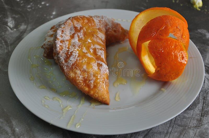 Panadería siciliana Cassatella tradicional de los pasteles fotografía de archivo libre de regalías