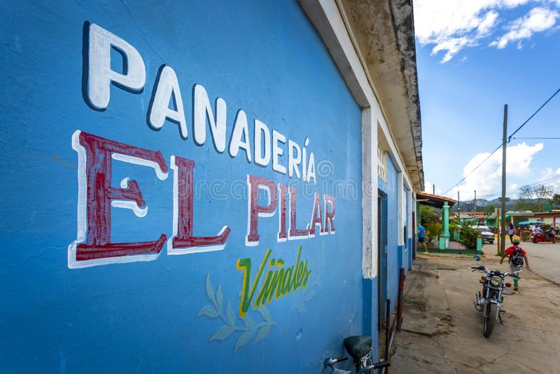 Panaderia,联合国科教文组织,Vinales,比那尔德里奥省,古巴,西印度群岛,加勒比,中美洲 免版税库存照片