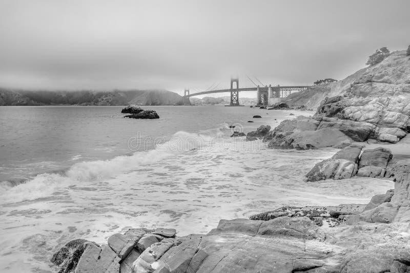 Panadero Beach San Francisco de BW foto de archivo