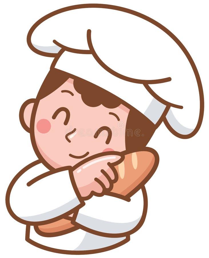 Panadero de la historieta stock de ilustración