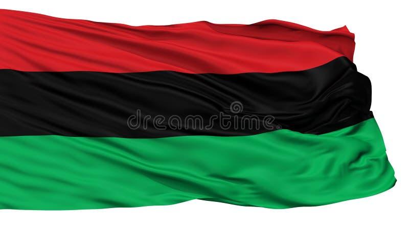 Panafrican Amerikaanse Zwarte die de Bevrijdingsvlag van Unia Afro, op Wit wordt geïsoleerd stock illustratie