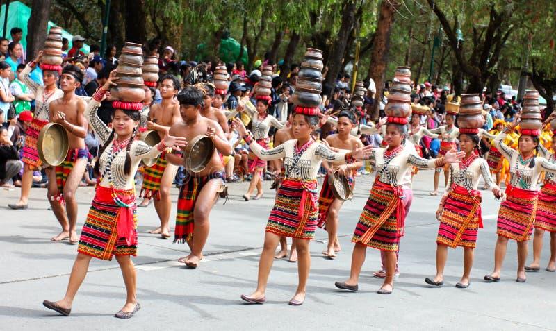 Panagbenga Festival, Baguio-Stadt stockbild