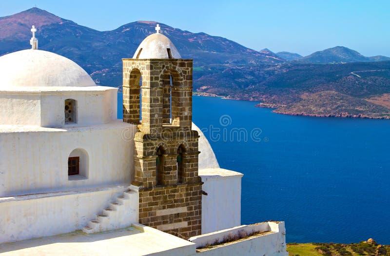 Panaghia Thalassitra kyrka i Milos Greece royaltyfri foto