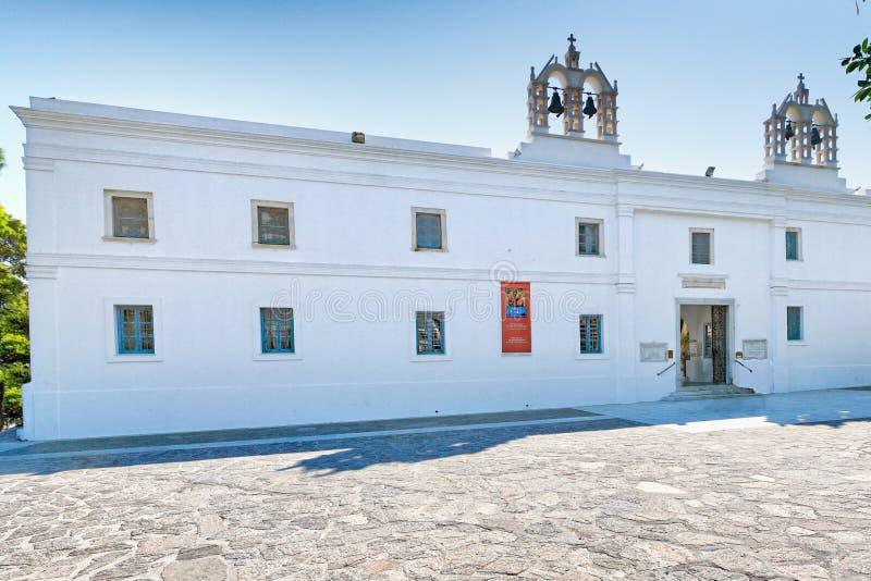 Panagia Ekatontapiliani в Paros, Греции стоковая фотография