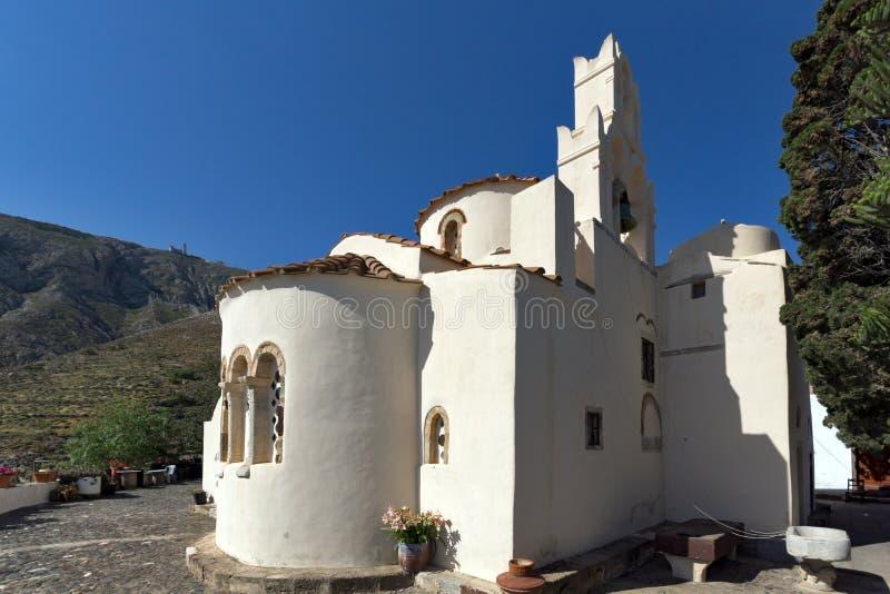 Panagia Episkopi kościół w Santorini wyspie, Thira, Grecja obraz royalty free