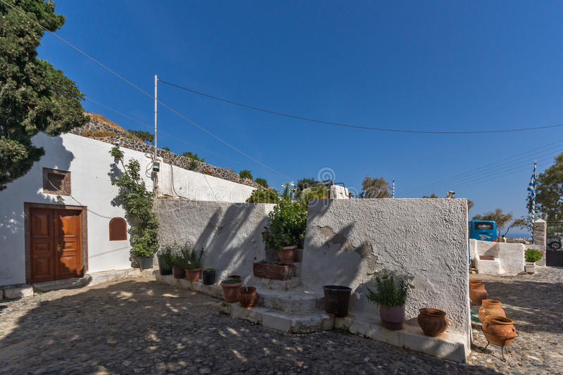 Panagia Episkopi kościół w Santorini wyspie, Thira, Grecja fotografia royalty free