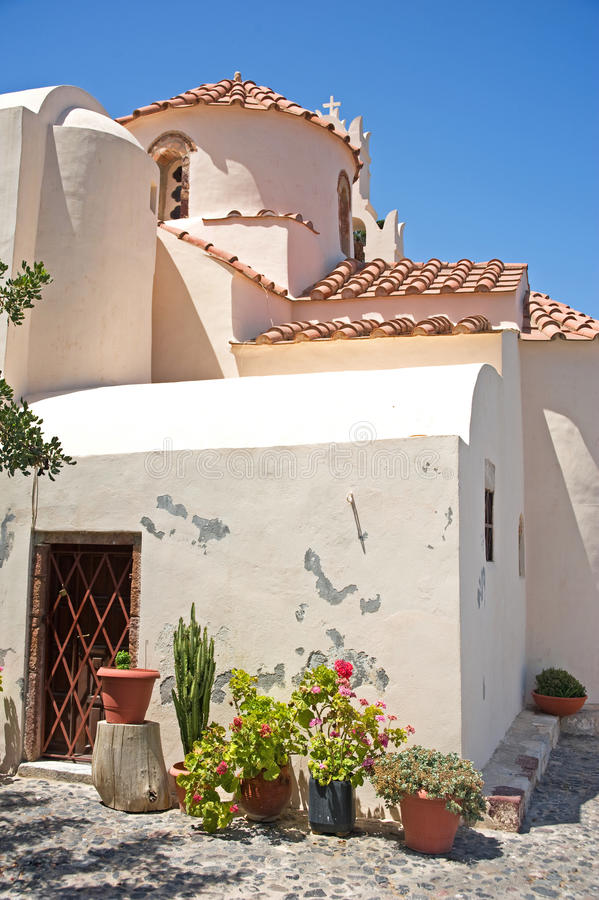 Download Panagia Episkopi: The Oldest Church In Santorini. Stock Image - Image of tourism, destination: 20676327