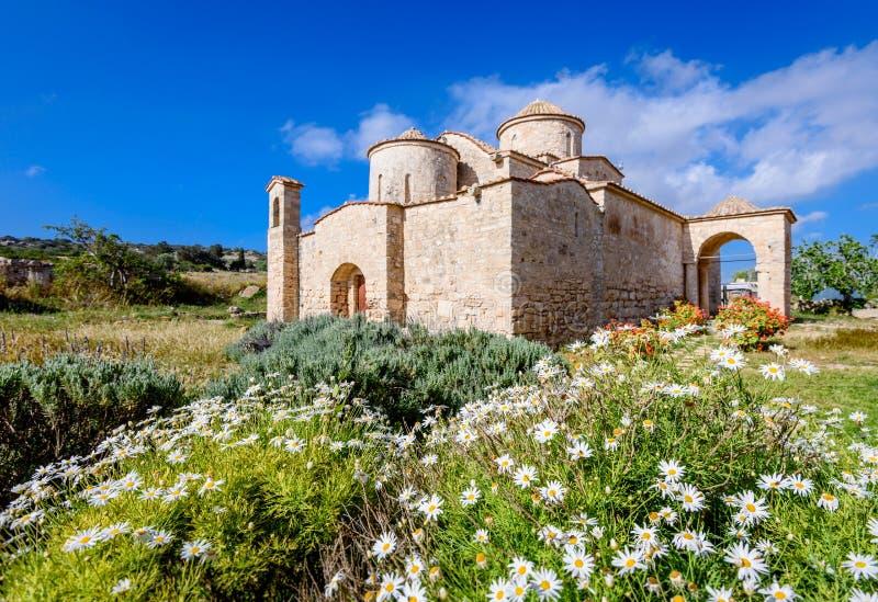 Panagia Kanakaria monaster w tureckiej obsiadłej stronie Cypr 9 i kościół fotografia stock