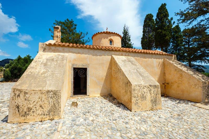 Panagia Kera dans le village Kritsa, Crète image libre de droits