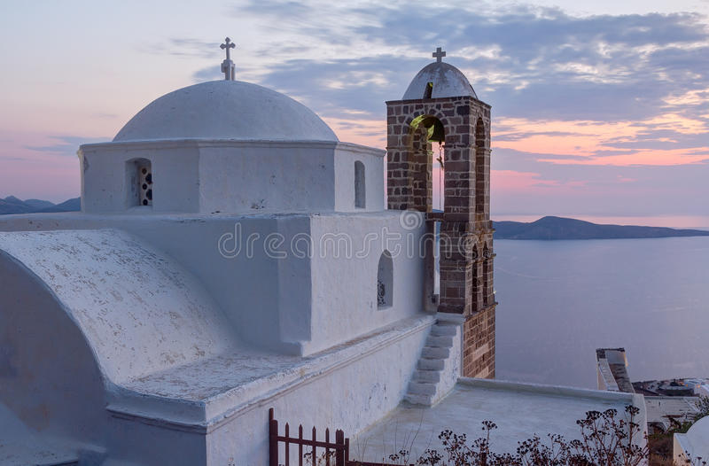 Panagia kościół Thalassitra, Milos wyspa, Grecja zdjęcie royalty free