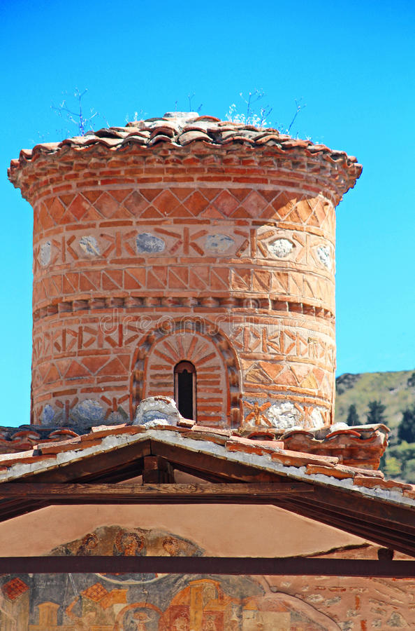 Panagia Koumbelidiki church, Kastoria, Greece stock photos