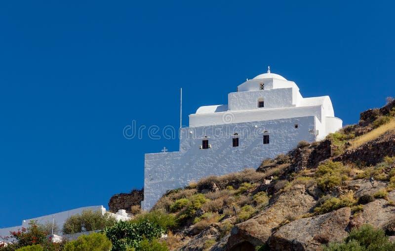 Panagia Thalassitra kyrka, Milos ö, Grekland royaltyfria bilder