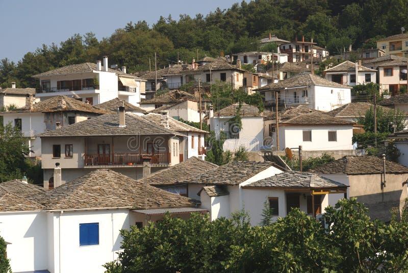 Panagia Thassos. View on old village Panagia island Thassos Greece stock photos