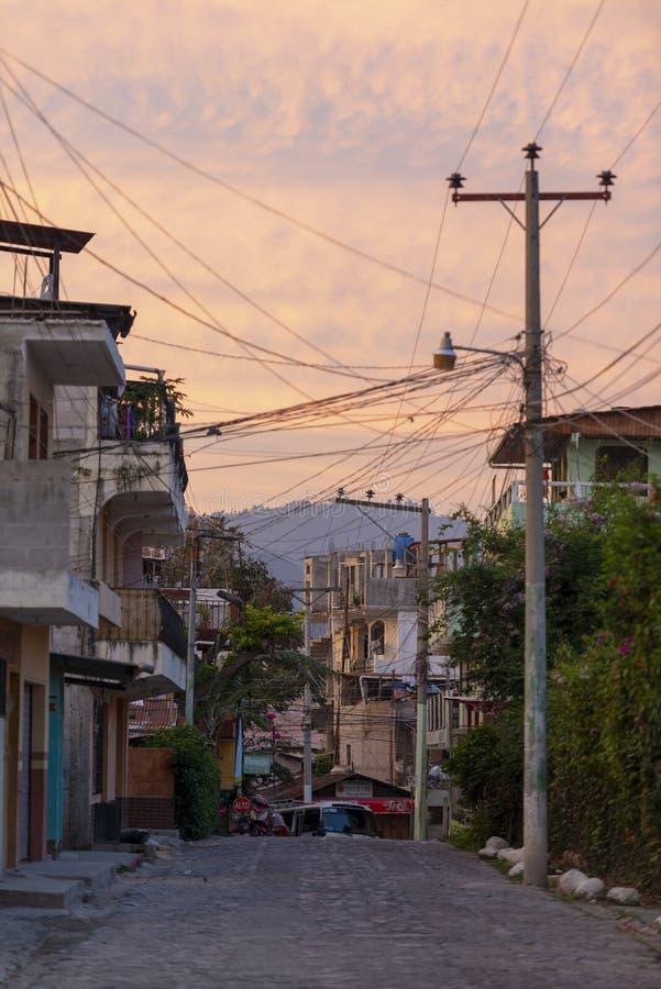 Panajachel Street Scene, Guatemala royalty free stock image