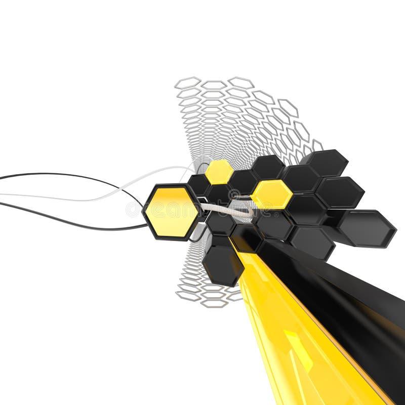 panal abstracto 3D libre illustration