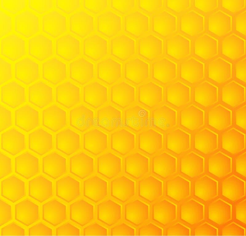 Panal de las abejas, fondo inconsútil del modelo ilustración del vector