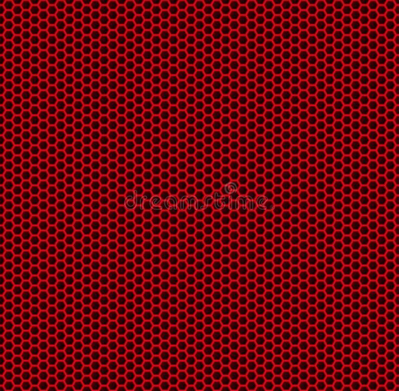 Panal rojo ilustración del vector