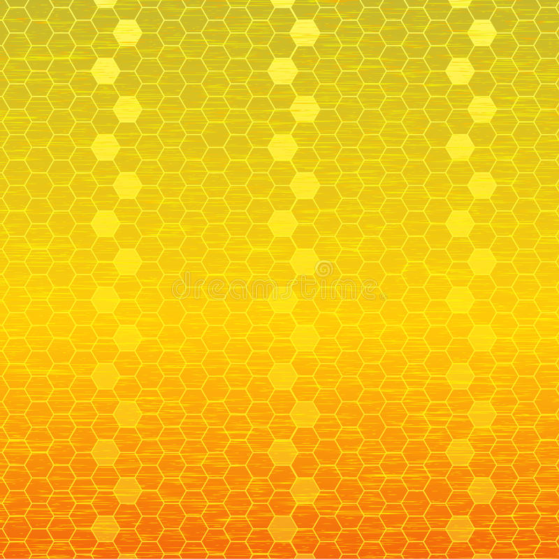 Panales metálicos del oro libre illustration