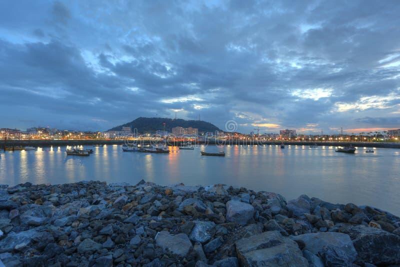 Panamá nel tramonto fotografia stock