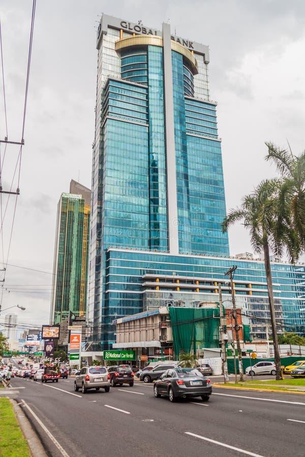 PANAMÁ, PANAMA - 30 MAGGIO 2016: Grattacielo globale della Banca di Torre in ci del Panama fotografia stock libera da diritti