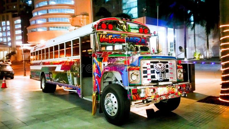 Panama buss arkivfoto