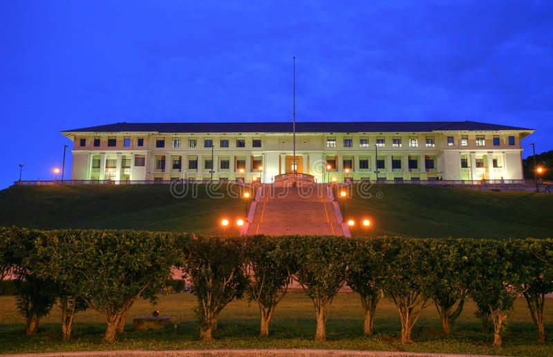 Panama Canal Administration Building. The former seat of the Canal Zone Government and Panama Canal Company. Its the agency that runs the Panama Canal— stock photography