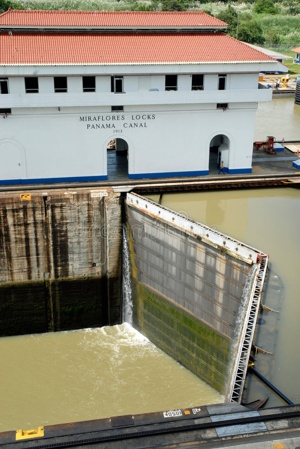 Download Panama Canal closed locks stock image. Image of container - 8002489