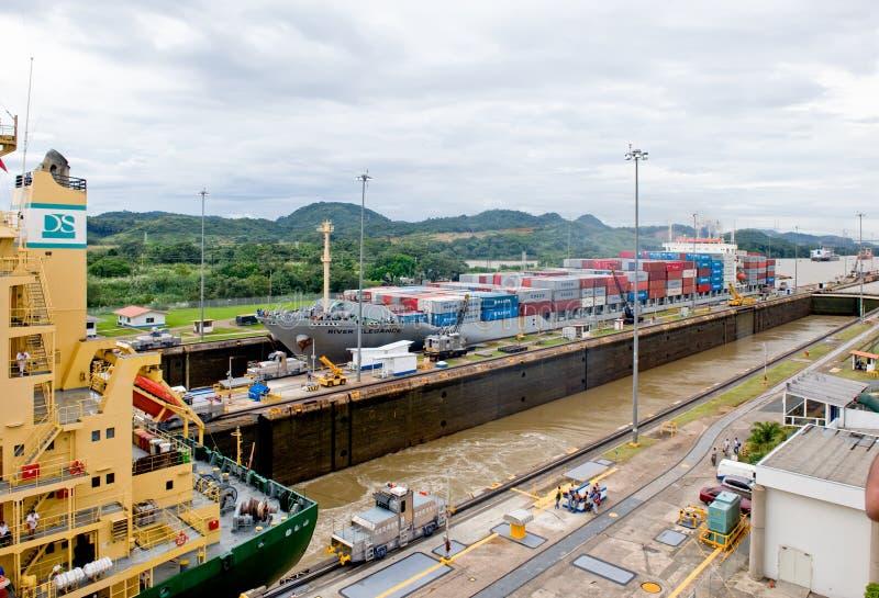 Panama Canal Locks Transit Editorial Image