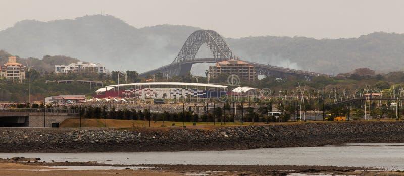 Panama City - amerikansk bro för trans., Panama fotografering för bildbyråer