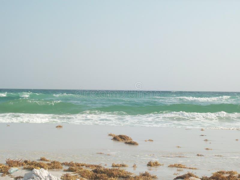 Panama City Beach, FL Beach - Ocean Waves Crashing on White Sand Beach Shoreline royalty-vrije stock foto's