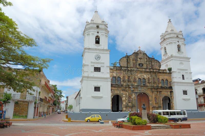 Panama City cascoviejo arkivbild