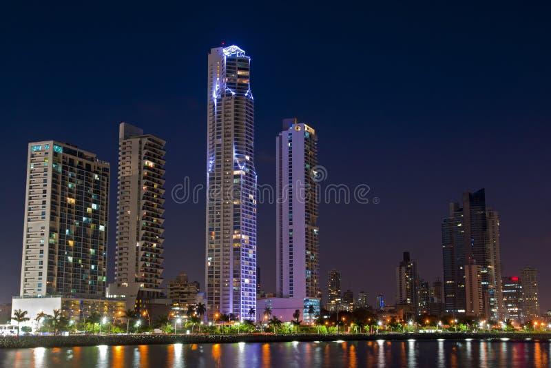 Panama City horisont royaltyfria foton