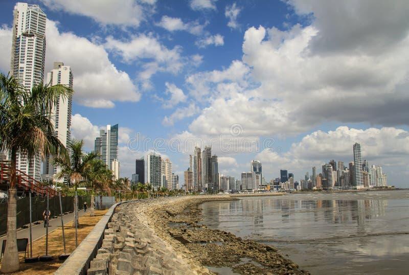 Panama City horisont, Panama City, Panama royaltyfria foton