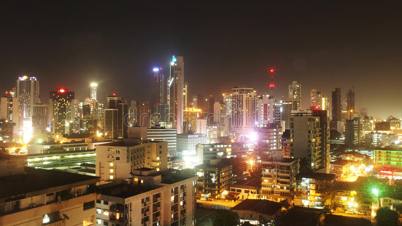 Panama City Nights. And Lights royalty free stock photo