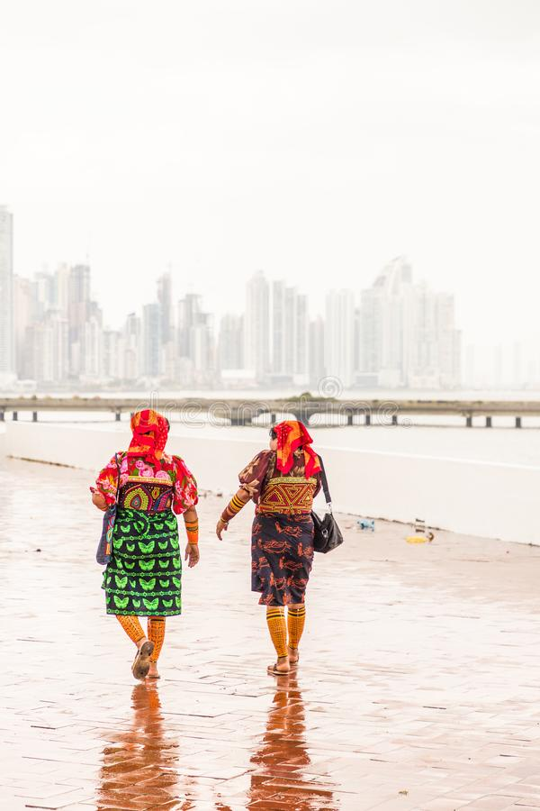 A typical view in Panama City in Panama stock photos