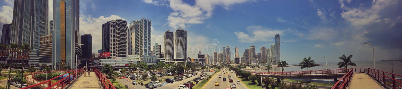 Panama City panoramisch lizenzfreie stockfotografie