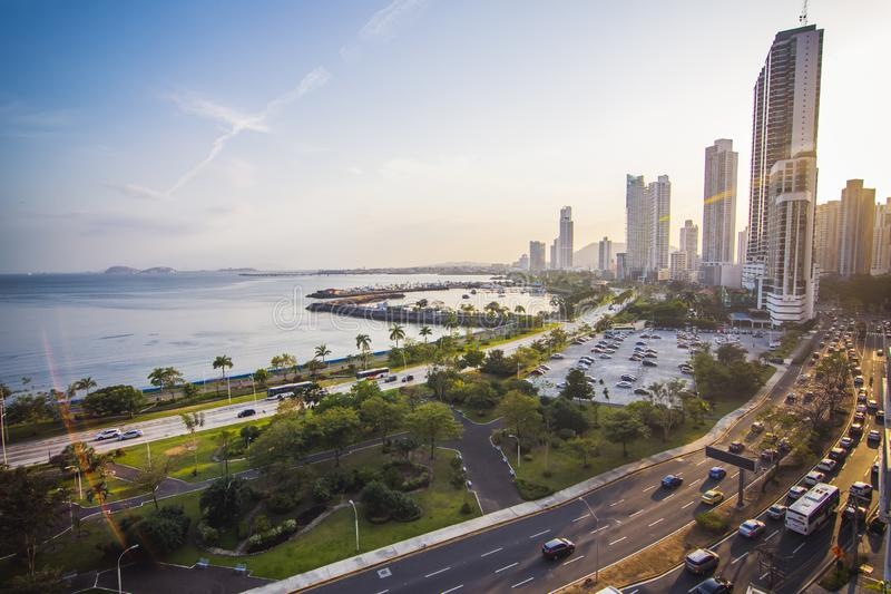 Panama City Skyline fotografie stock