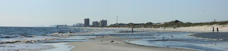 Panama City strandgolf av Mexico nära den pittoreska Shell för solnedgång ön royaltyfria foton