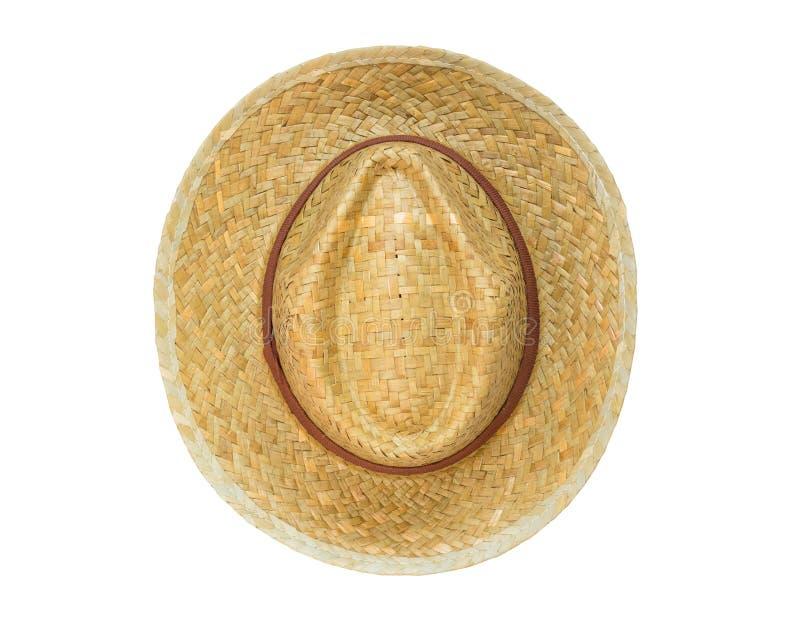 Panama för bästa sikt som hatt isoleras på vit bakgrund royaltyfri foto