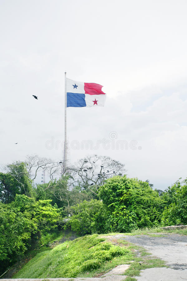 Panama Flag royalty free stock photography