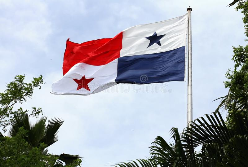 Panama flag waving royalty free stock photo